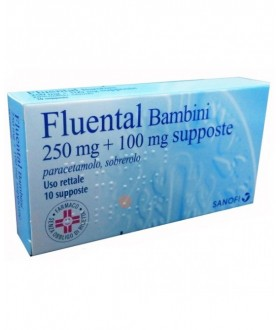 Fluental*bb 10supp 250mg+100mg